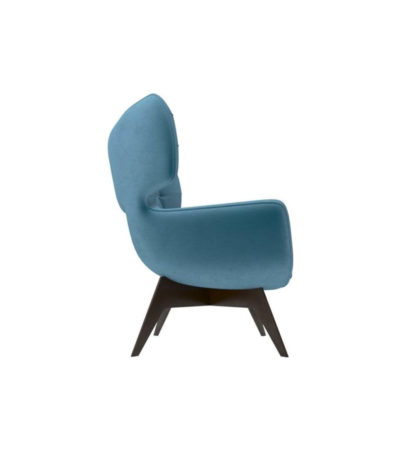 Farida Upholstered Button Armchair Right