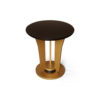 Fido Wooden Dark Brown and Gold Side Table 1