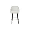 Finess Upholstered Wood and Stainless Steel Bar Stool 1
