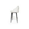 Finess Upholstered Wood and Stainless Steel Bar Stool 5
