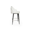 Finess Upholstered Wood and Stainless Steel Bar Stool 4