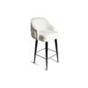 Finess Upholstered Wood and Stainless Steel Bar Stool 2