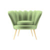 Flower Upholstered Accent Armchair 1