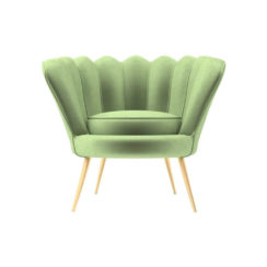 Flower Upholstered Accent Armchair
