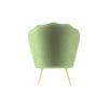 Flower Upholstered Accent Armchair 4