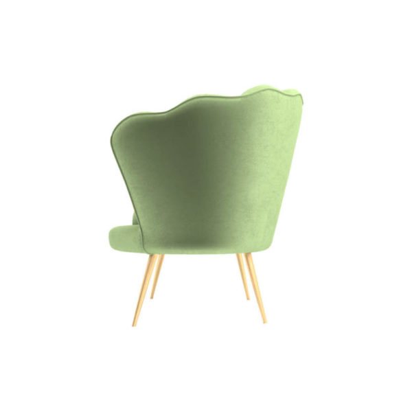 Flower Upholstered Accent Armchair Left Side View