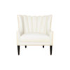 Georg Upholstered Armchair with Round Back and Black Legs 1