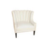 Georg Upholstered Armchair with Round Back and Black Legs 4