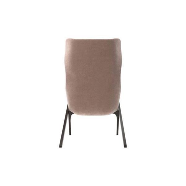 Gita Upholstered Highback Armchair Back View