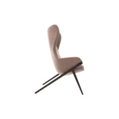 Gita Upholstered Highback Armchair Right Side View
