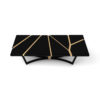 Gordon Black Lacquer Console Table with Brass Inlay 3
