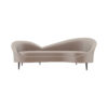 Heart Upholstered Curved Back Sofa with Wooden Legs 1