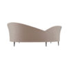 Heart Upholstered Curved Back Sofa with Wooden Legs 5