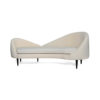 Heart Upholstered Curved Back Sofa with Wooden Legs 8