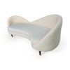 Heart Upholstered Curved Back Sofa with Wooden Legs 7