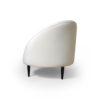 Heart Upholstered Curved Back Sofa with Wooden Legs 6