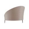 Heart Upholstered Curved Back Sofa with Wooden Legs 4