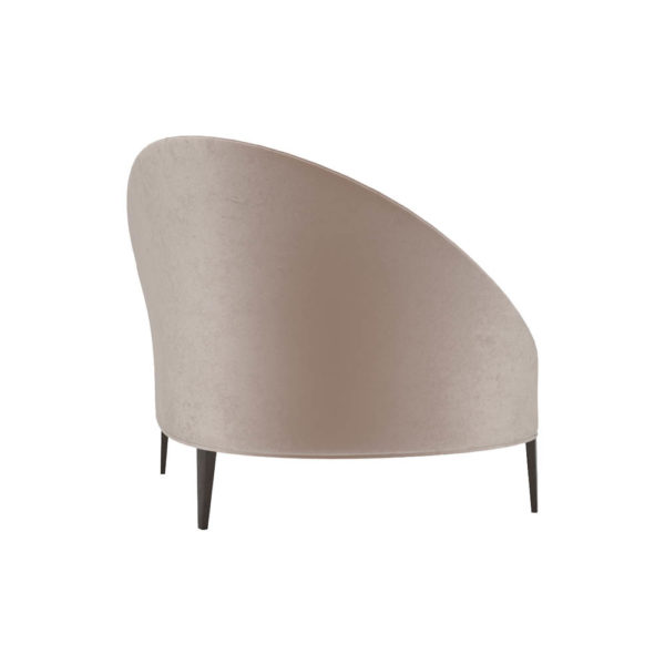 Heart Upholstered Curved Back Sofa with Wooden Legs Right Side View
