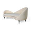 Heart Upholstered Curved Back Sofa with Wooden Legs 2