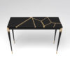 Ida Wood and Stainless Black Console Table 1