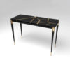 Ida Wood and Stainless Black Console Table 6