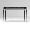 Ida Wood and Stainless Black Console Table 5