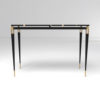 Ida Wood and Stainless Black Console Table 4