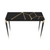 Ida Wood and Stainless Black Console Table 7