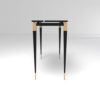 Ida Wood and Stainless Black Console Table 3