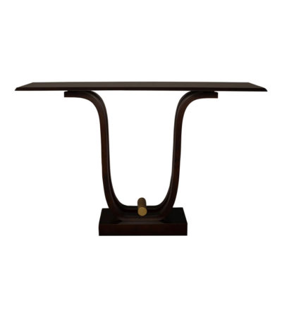 Judy Brown Console Table with Curved Legs