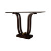 Judy Brown Console Table with Curved Legs 4