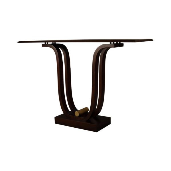 Judy Brown Console Table with Curved Legs Beside View
