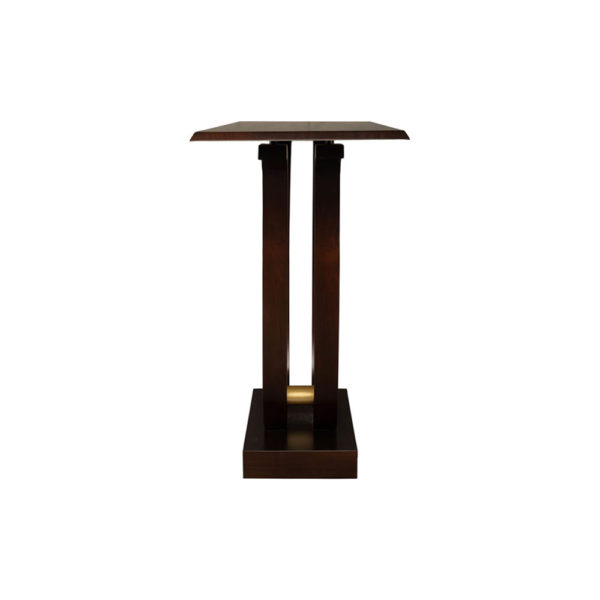 Judy Brown Console Table with Curved Legs Side View