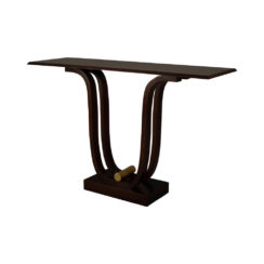 Judy Brown Console Table with Curved Legs Top View