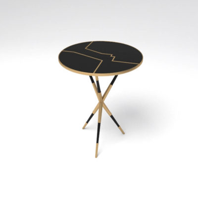Julia Wooden Round Side Table UK Circle