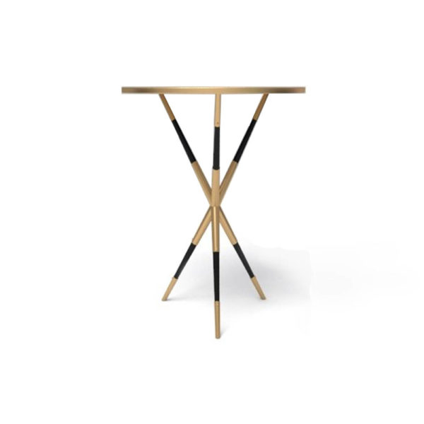 Julia Wooden Round Side Table UK Front
