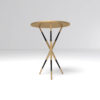 Julia Wooden Round Side Table UK 4