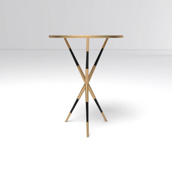 Julia Wooden Round Side Table UK Round