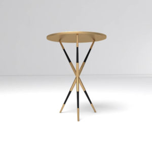 Julia Wooden Round Side Table Uk Gold