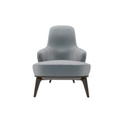 Kabeer Upholstered High Back Winged Armchair