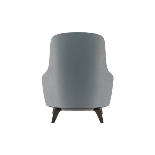 Kabeer Upholstered High Back Winged Armchair Back
