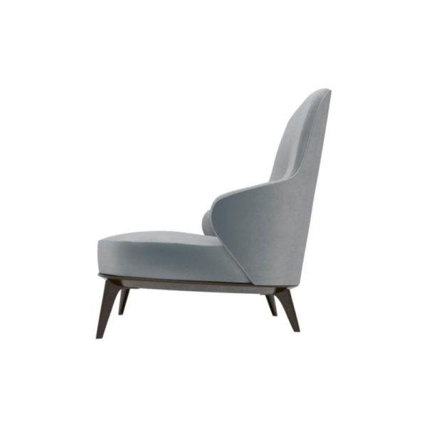Kabeer Upholstered High Back Winged Armchair Left