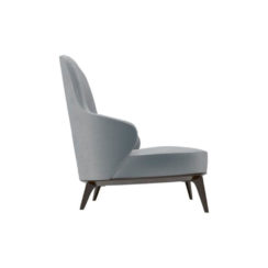 Kabeer Upholstered High Back Winged Armchair Right