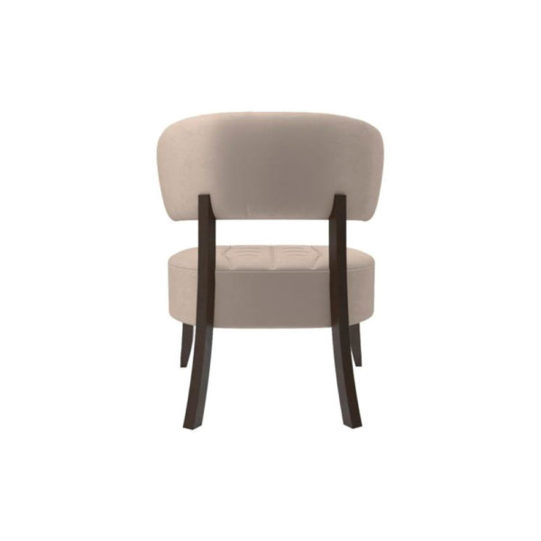Kathy Upholstered Winged Tufted Accent Chair Back