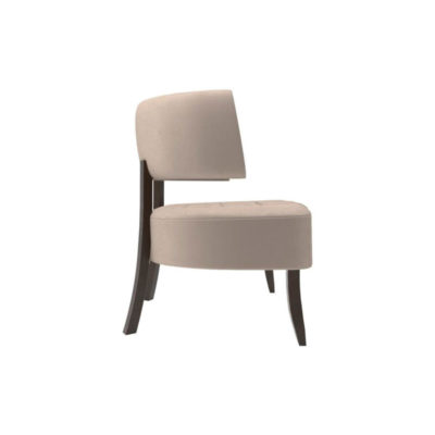 Kathy Upholstered Winged Tufted Accent Chair Right Side View