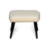Keda Upholstered Pouf with Black Legs 1