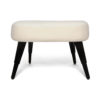 Keda Upholstered Pouf with Black Legs 4