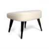 Keda Upholstered Pouf with Black Legs 2