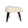 Keda Upholstered Pouf with Black Legs 3