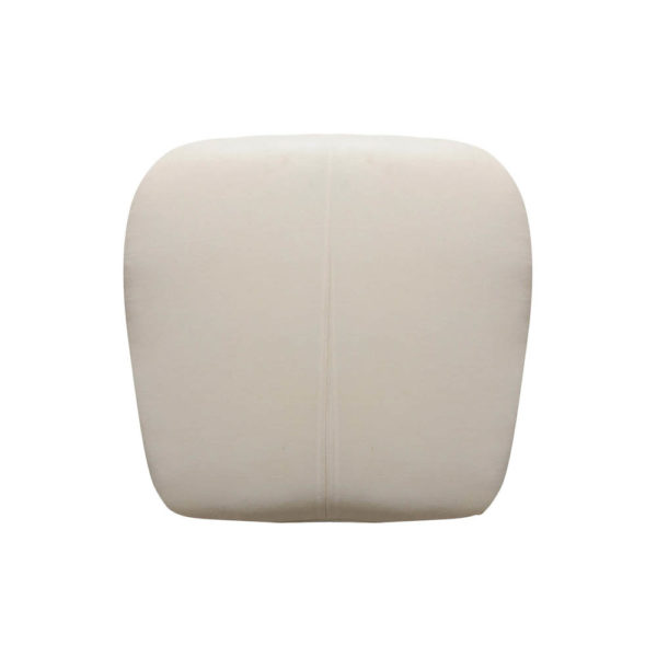 Keda Upholstered Pouf with Black Legs Top View